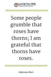 I Am Grateful Roses Have Thorns